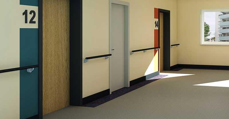 Pflegeheime Raumgestaltung Kontraste Farben Nullbarriere