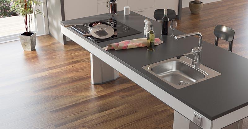 barrierefreies bauen barrierefreie k che und. Black Bedroom Furniture Sets. Home Design Ideas