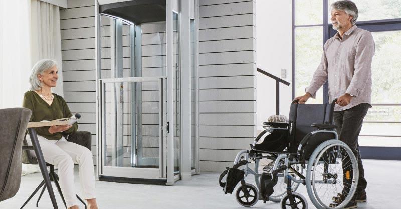 Sporting 1 Etage Hauslift 300cm Senioren Lift Fahrstuhl Senkrechtlift Behindertenlift Treppenlifte & Aufzüge Business & Industrie