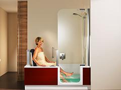 Barrierefreie Badewanne mit Tür und Hebesitz - nullbarriere.de | {Badewanne mit dusche und einstieg 87}