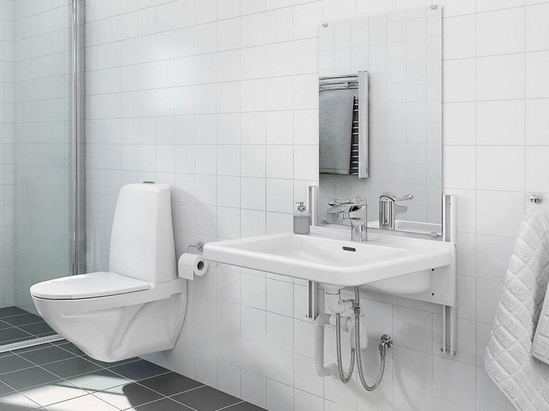 unterfahrbare h henverstellbare waschtische nullbarriere. Black Bedroom Furniture Sets. Home Design Ideas