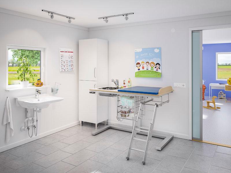 wickeltische pflegetische pflegeliegen duschliegen. Black Bedroom Furniture Sets. Home Design Ideas