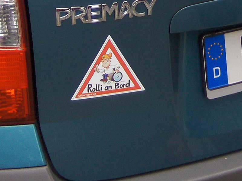 Auto Behindertenfahrzeug Rolli An Bord Rollstuhlfahrer