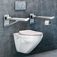 haltegriffe f r behinderten wc sanit r verbindung. Black Bedroom Furniture Sets. Home Design Ideas