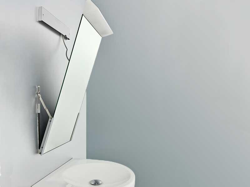 Spiegel Schräg Aufhängen barrierefrei kippspiegel schrägfront spiegelschränke