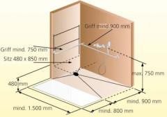 barrierefreie dusche skizze - Dusche Barrierefrei Planung