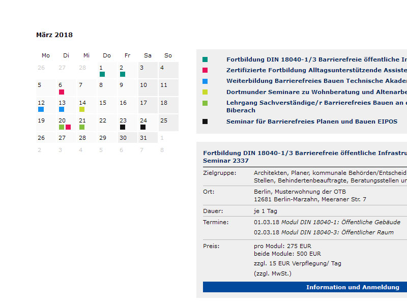nullbarriere.de Seminarkalender Screenshot